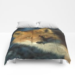 Red Fox in the Wild Comforters
