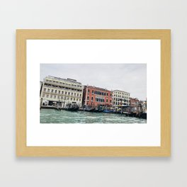 A View From the Water of Venice Framed Art Print