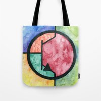 transistor Tote Bags featuring Watercolor NPN BJT by EEShirts