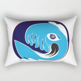 Waveboarder Smiley Rectangular Pillow