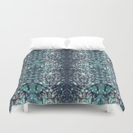 Abstract blue black pattern. Duvet Cover