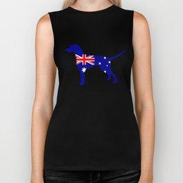Australian Flag - Dalmatian Biker Tank