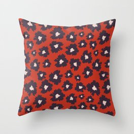 Camofloral Purple Throw Pillow