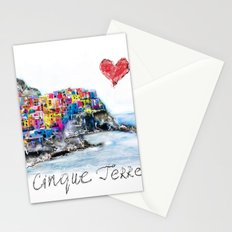 I love Cinque terre Stationery Cards