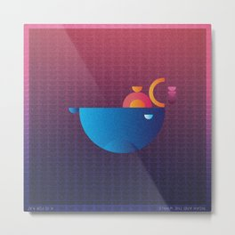 Music in Monogeometry : Noah and the Whale Metal Print