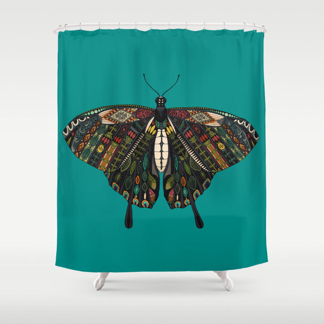 butterfly shower curtains society6