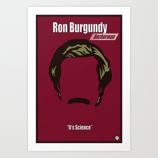 Ron Burgundy: Anchorman Art Print