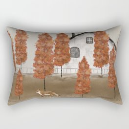 an autumns morning Rectangular Pillow