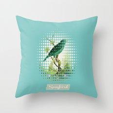 Songbird {Jade} Throw Pillow
