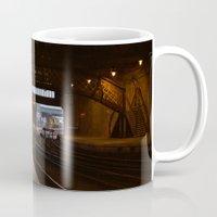 train Mugs featuring Train by RMK Creative