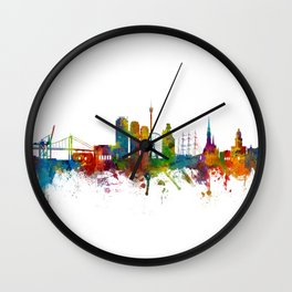 Gothenburg Sweden Skyline Wall Clock