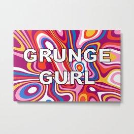 GRUNGE GURL Metal Print