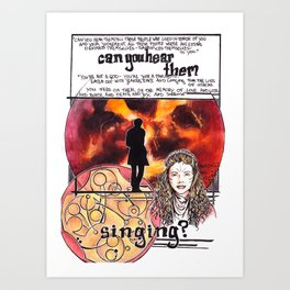 Doctor Who - Can you hear them singing Art Print