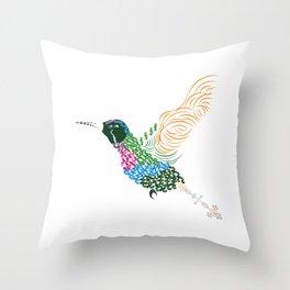 Abstract Hummingbird ~ Garnet-throated Variant Throw Pillow