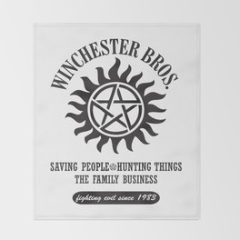 SUPERNATURAL WINCHESTER BROTHERS DEAN AND SAM Throw Blanket