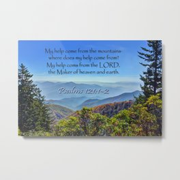 Psalms 121:1-2 Metal Print