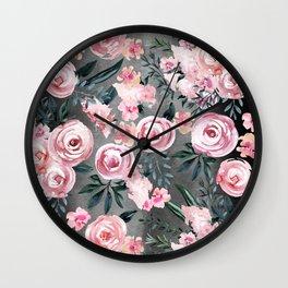 Night Rose Garden Wall Clock