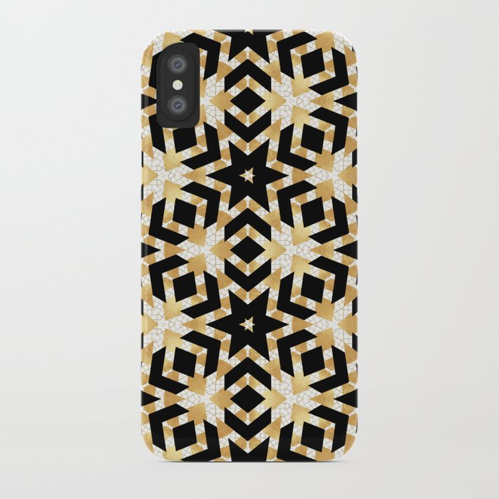 cbdb984649 Art Deco Gold Foil Star Pattern iPhone Case by lisaguenraymond | Society6