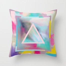 Rose Triangle Manifestation Throw Pillow