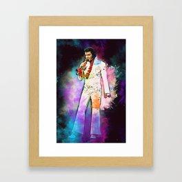 Elvis The King Framed Art Print