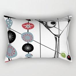 Mid-Century Modern Art Atomic Cocktail 3.0 Rectangular Pillow