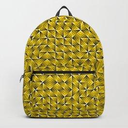 Yellow Geo Pattern Backpack