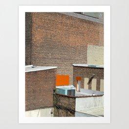 Brick and Orange Art Print