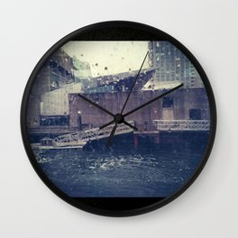 Droplets On Boston Harbor Wall Clock