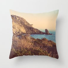 Golden Coast Throw Pillow