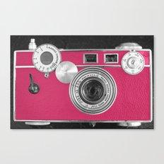Pink Fashion Camera Canvas Print