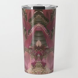 Red Shiso Warm Tones Pattern Travel Mug