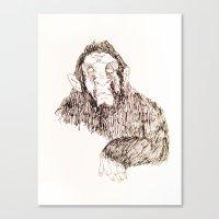 sasquatch Canvas Prints featuring Sasquatch?  by prevor