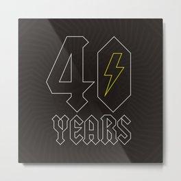 ACDC/40 Years Metal Print