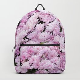 A Sea of Light Pink Chrysanthemums #2 #floral #art #Society6 Backpack