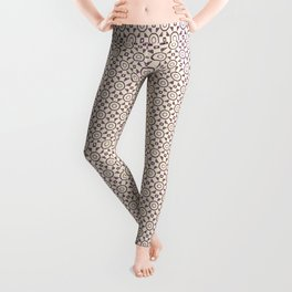 Handdrawn Geometric Pattern Grape on Cream Leggings