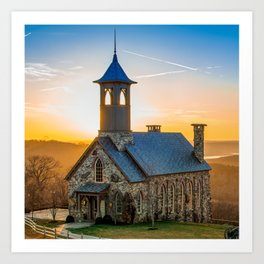 Chapel of the Ozarks - Top of the Rock Sunset 1x1 Art Print