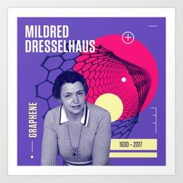 Beyond Curie: Mildred Dresselhaus Art Print