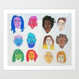 Strangers Blinking Art Print