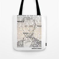 lincoln Tote Bags featuring Lincoln by Sandra T