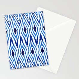 Ikat Blue Stationery Cards