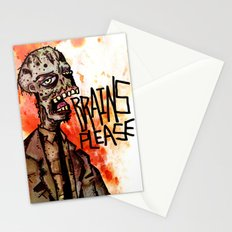 Brains Please Stationery Cards