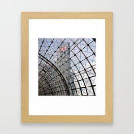 train station of glass in Berlin Framed Art Print