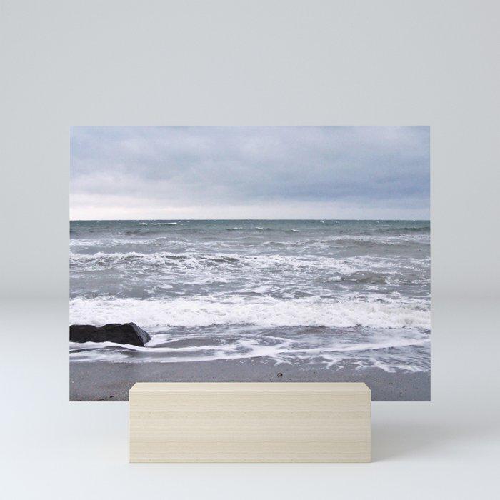 Cloudy Day on the Beach Mini Art Print