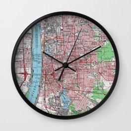 Vintage Map of Baton Rouge Louisiana (1963) Wall Clock