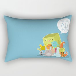 We Are All Happy Rectangular Pillow