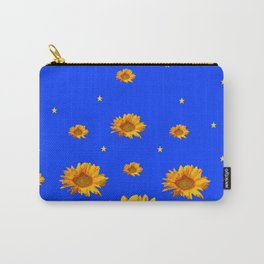 RAINING GOLDEN STARS YELLOW SUNFLOWERS BLUES Carry-All Pouch