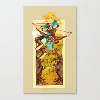 legend of zelda Canvas Prints featuring Legend of Zelda by bozrat