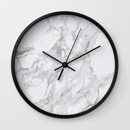 Grey and White Marble Wall Clock