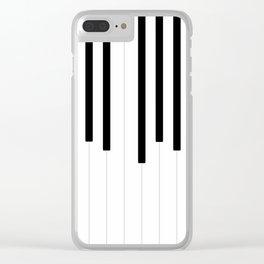 Piano keys, music background #society6 #decor #buyart #artprint Clear iPhone Case