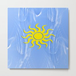 Sunshine and Blue Skies ahead.... Metal Print